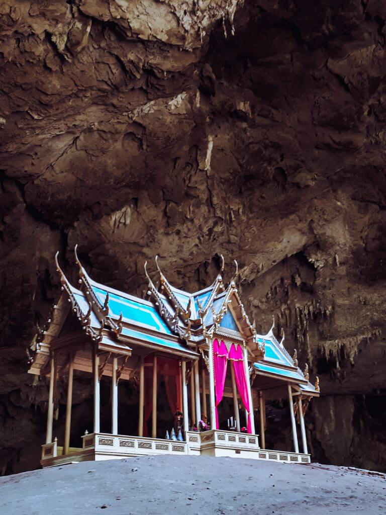 the shrine build inside a cave located in hua hin town, thailand