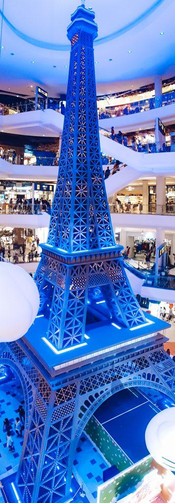 Terminal 21 eiffel tower in Pattaya City in Thailand.