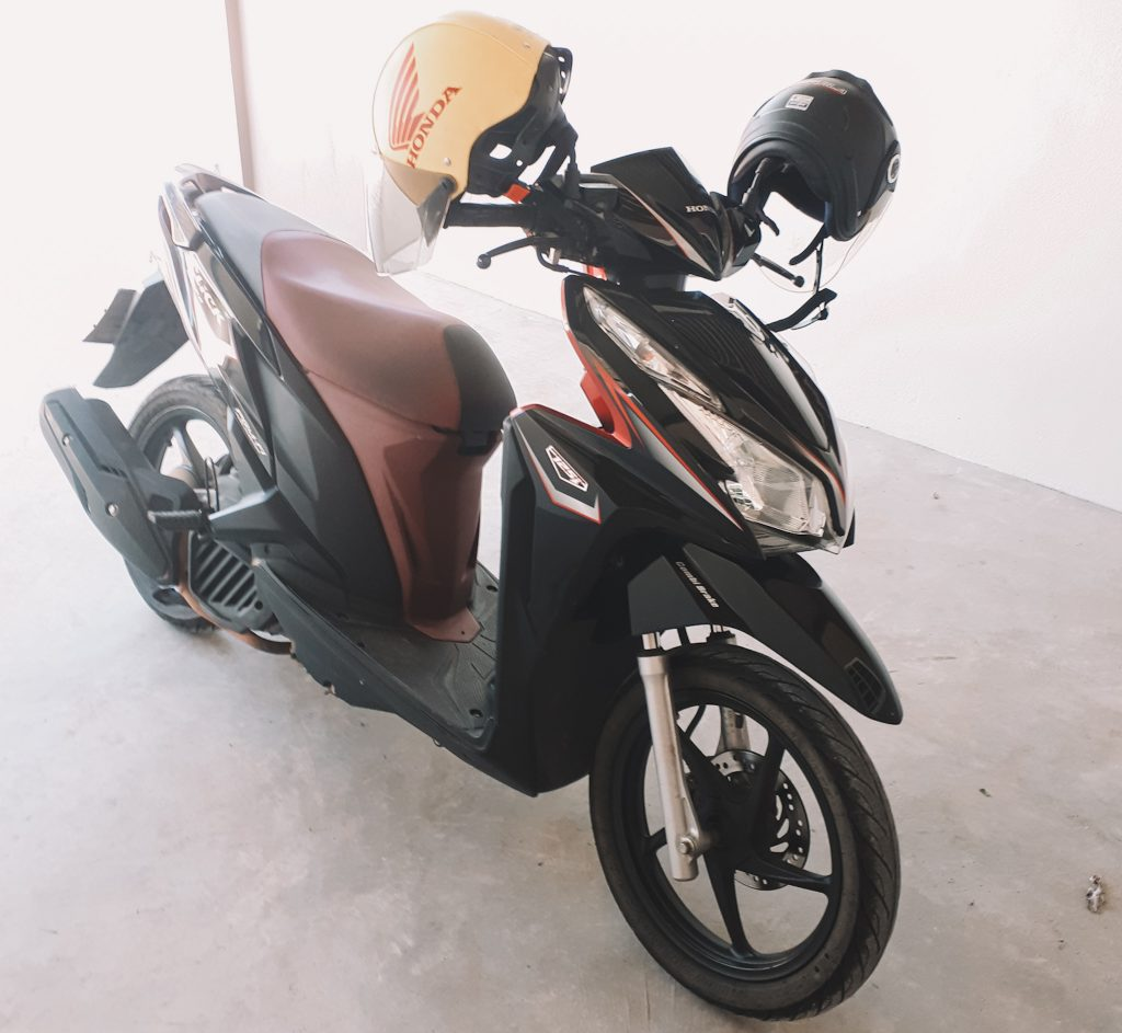 Scooter we rent from a lady in Chumphon Thailand.
