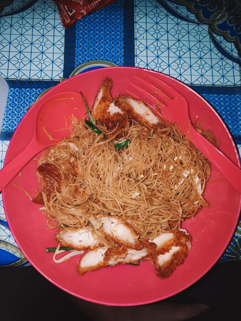 Noodles and pork a good meal while living in Thailand
