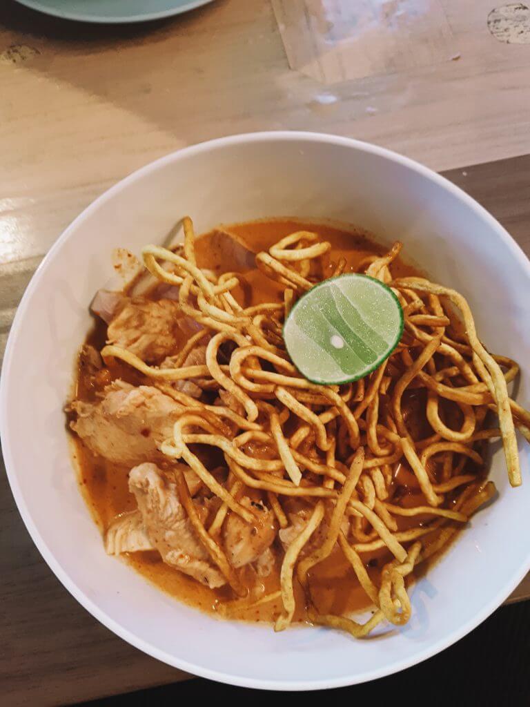 Khao soy a traditional thai dish