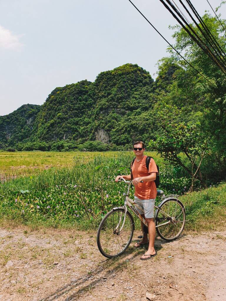 Cycling through the mountains of Ninh Binh