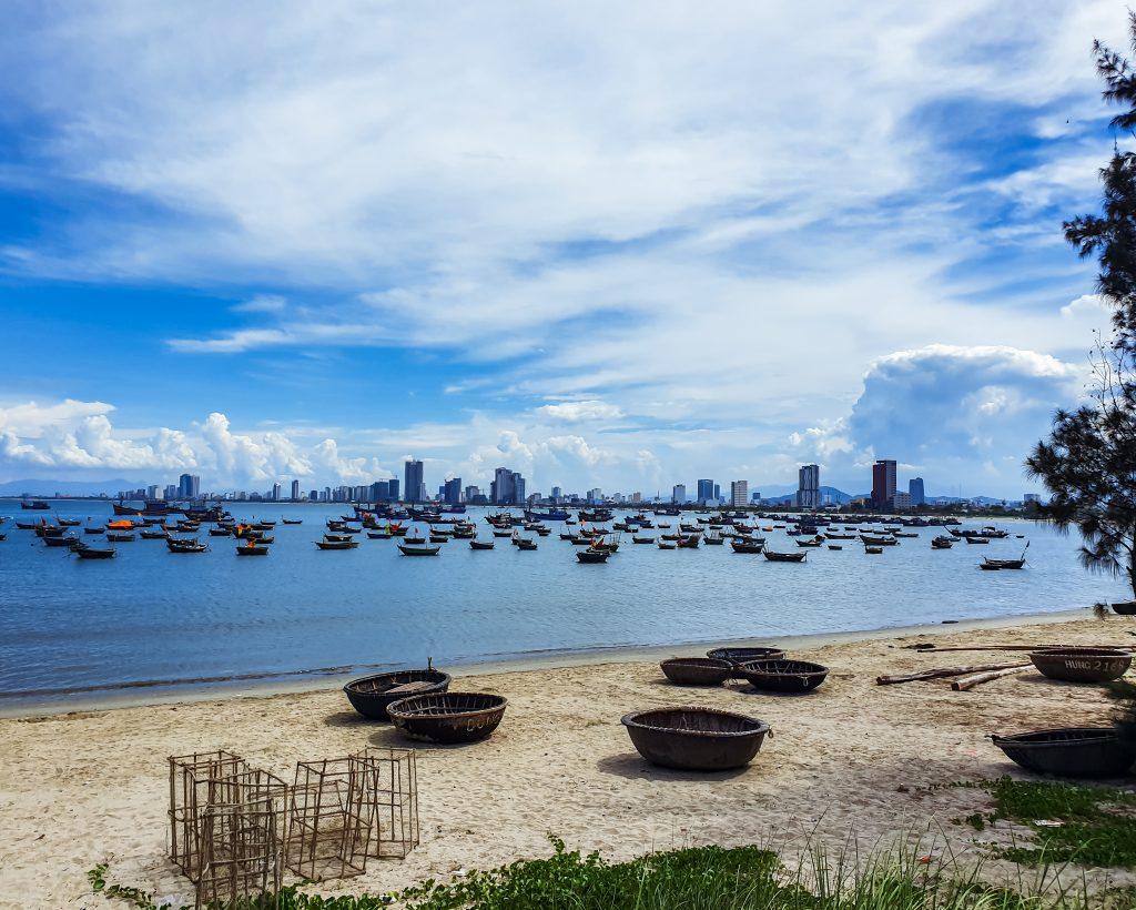 The coast of Da Nang Vietnam