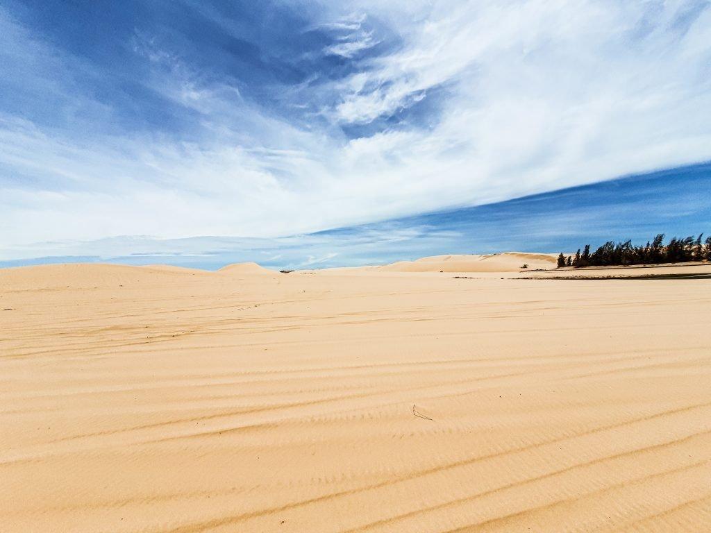 White sand dune located just outside of Mui Ne Vietnam
