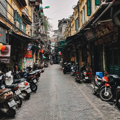 Traveling through Hanoi, Vietnam