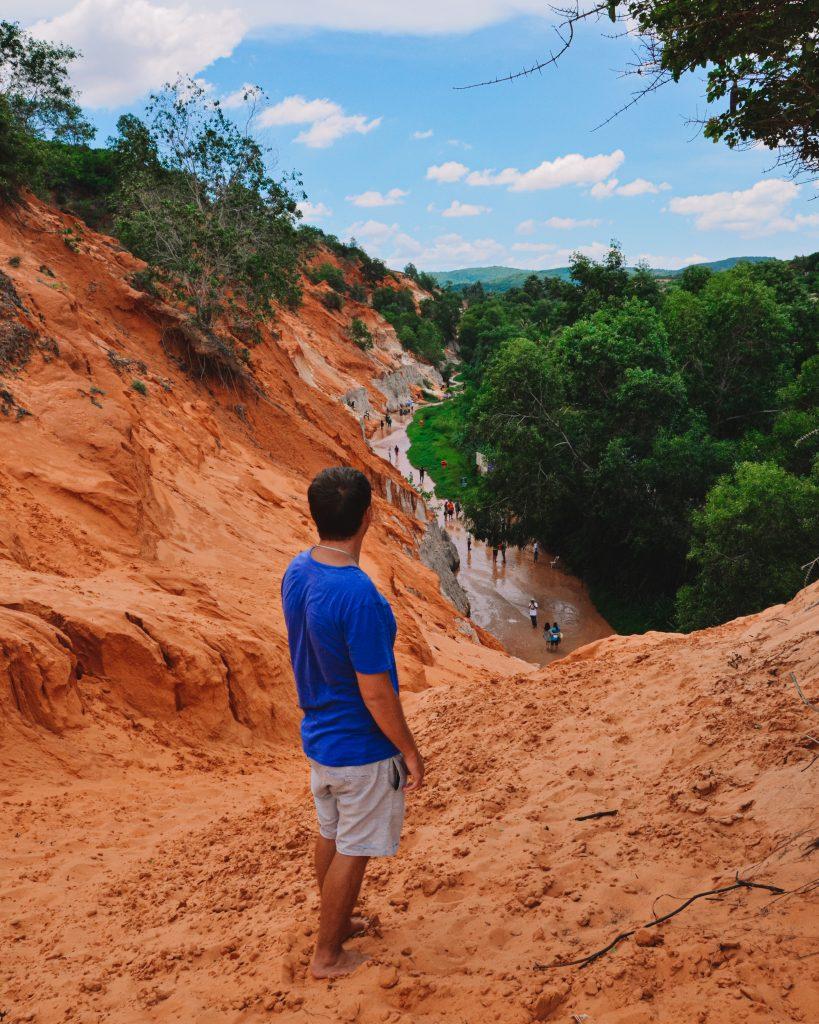 Jonathan admiring the famous fairy stream of Mui Ne