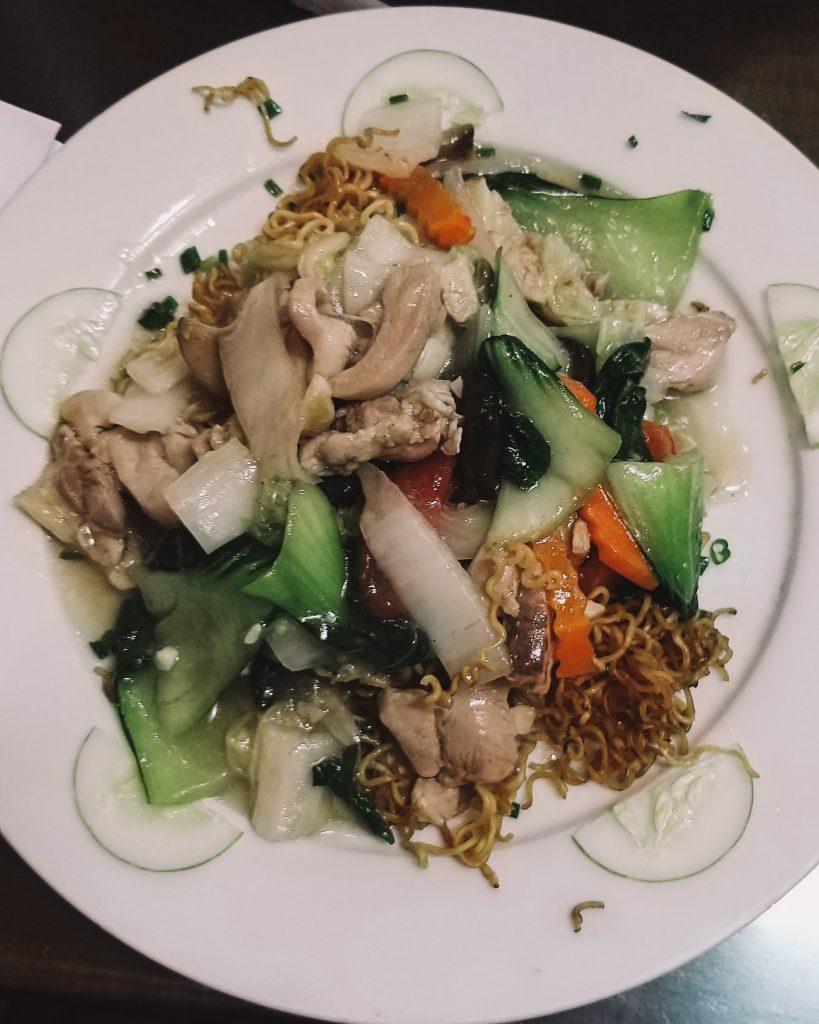 delicious chicken fried noodles in Vietnam