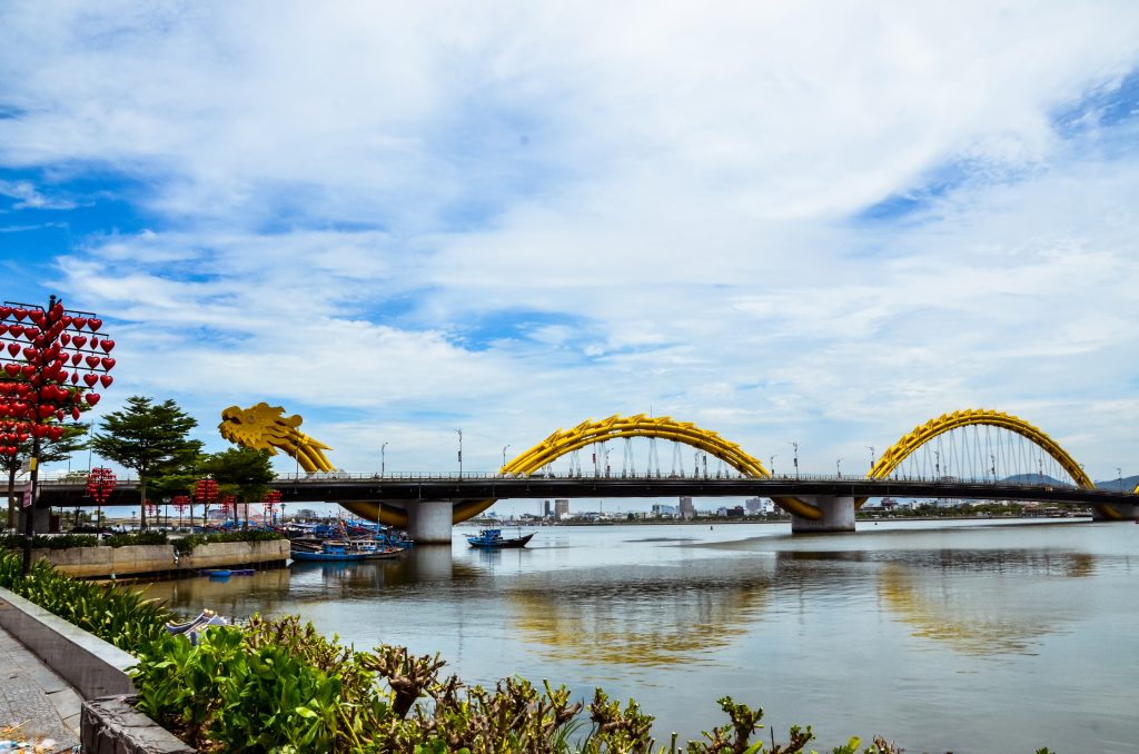 the dragon bridge of Da Nang Vietnam