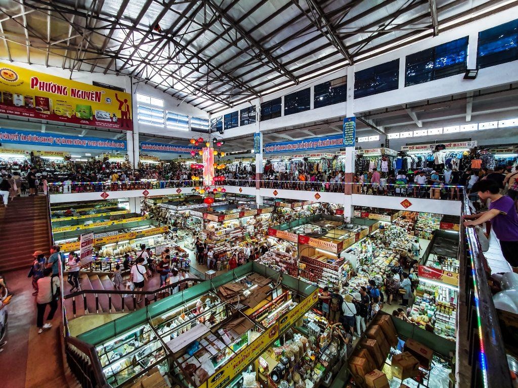 inside Cho Han Market in Da Nang Vietnam