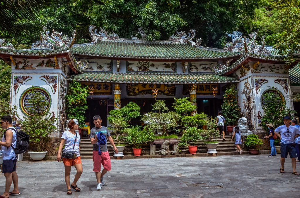 a Chinese temple on Marble mountain in Da Nang