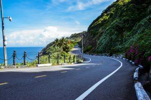 Beautiful road up monkey mountain in Da Nang Vietnam.