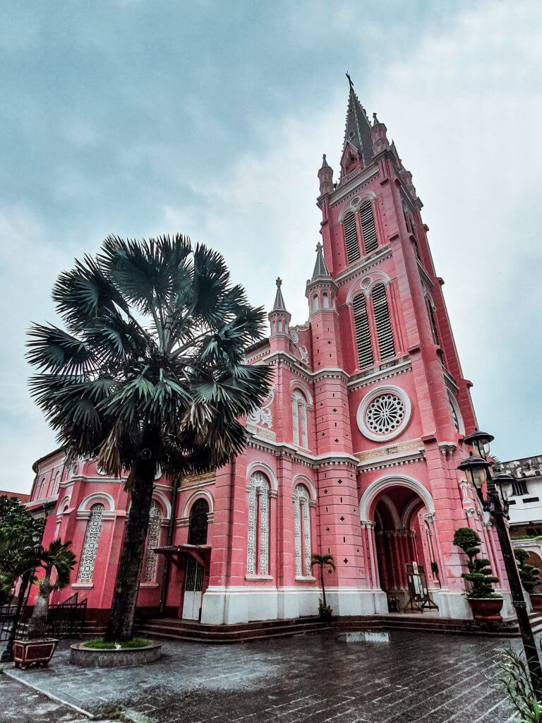 the pink cathedral of Ho Chi Minh City, Vietnam