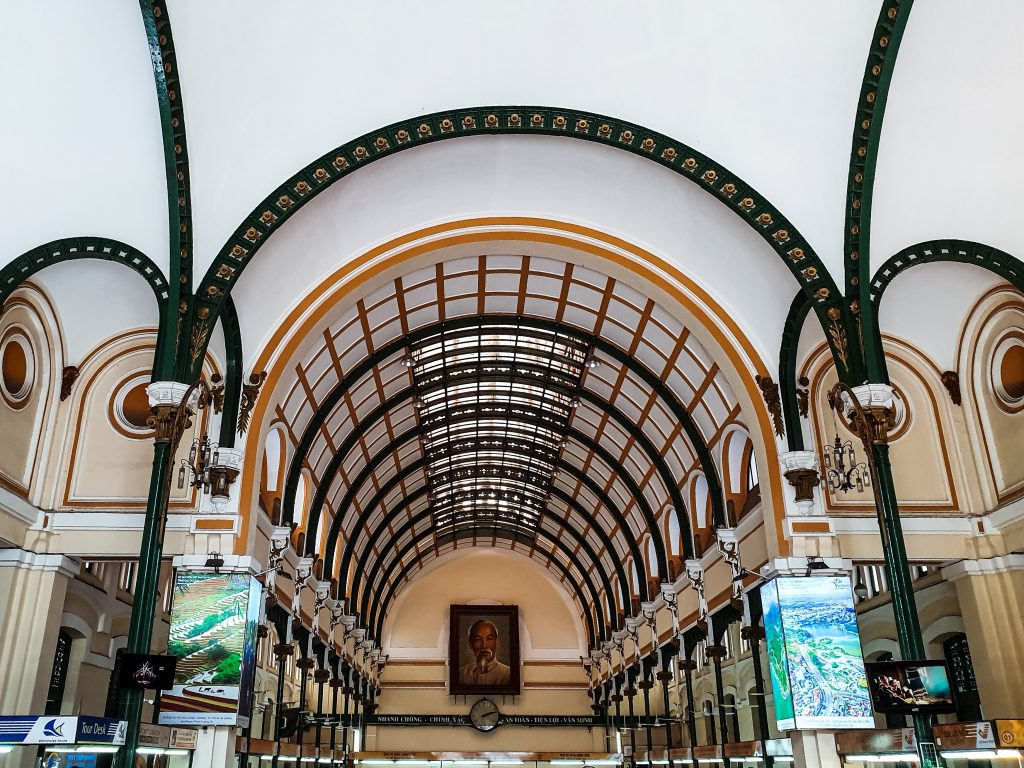 inside Ho Chi Minh City of the central post office