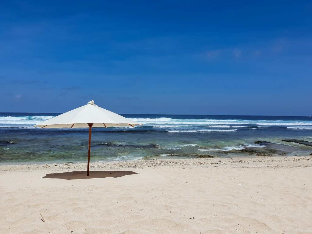a sun umbrella on Nyang Nyang beach, Bali