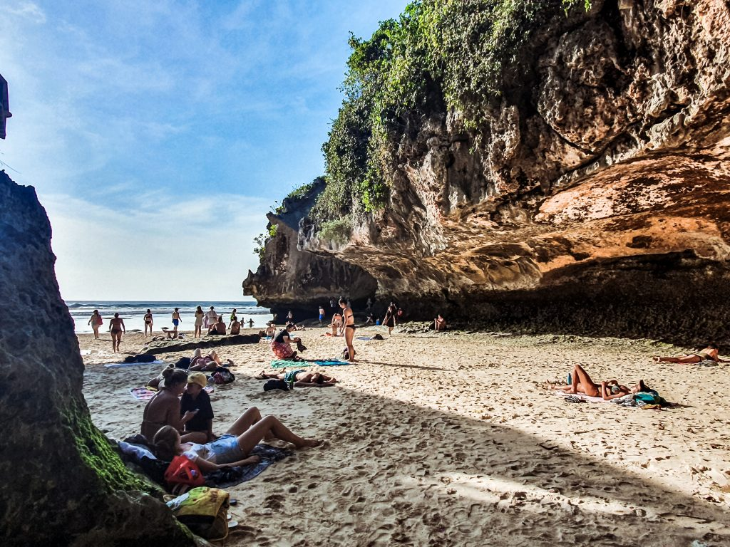 Suluban beach of Bali, Indonesia.