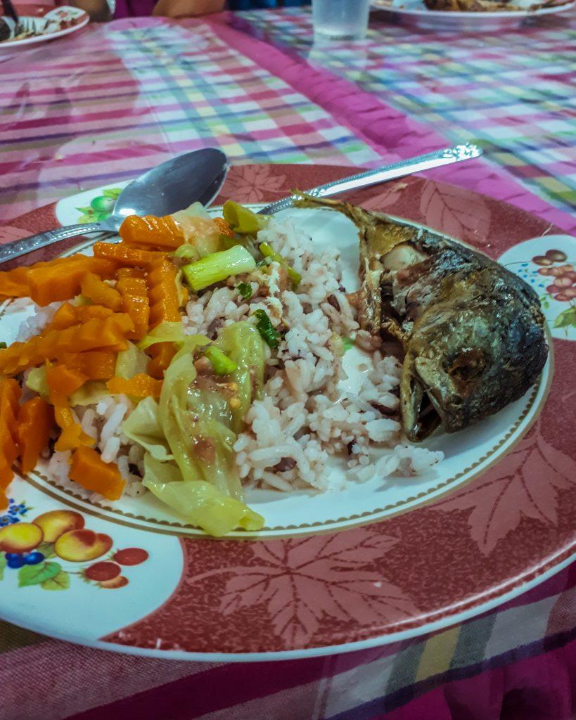a typical Thai meal that the Thai locals enjoy