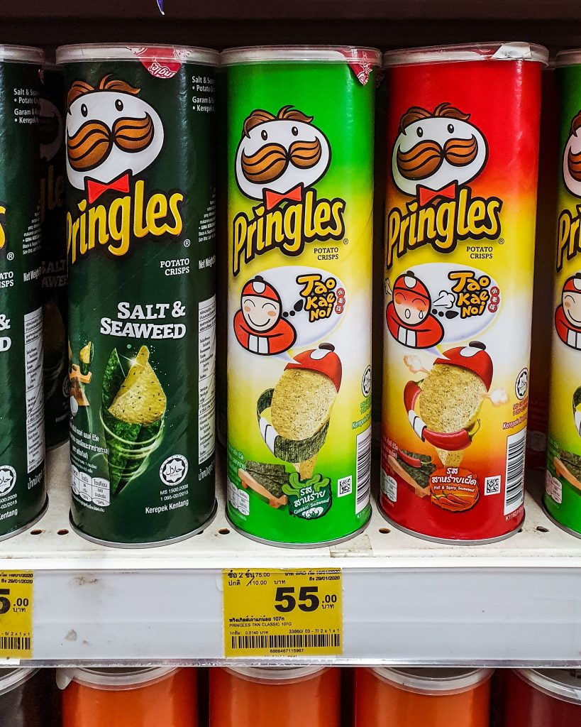 seaweed flavored pringles in Thailand