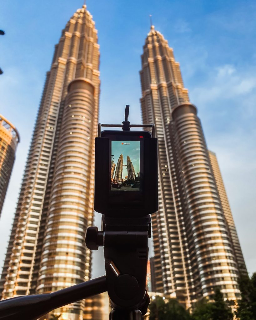 Using the GoPro Hero 7 to capture the Petronas Twin Towers in Kuala Lumpur Malaysia