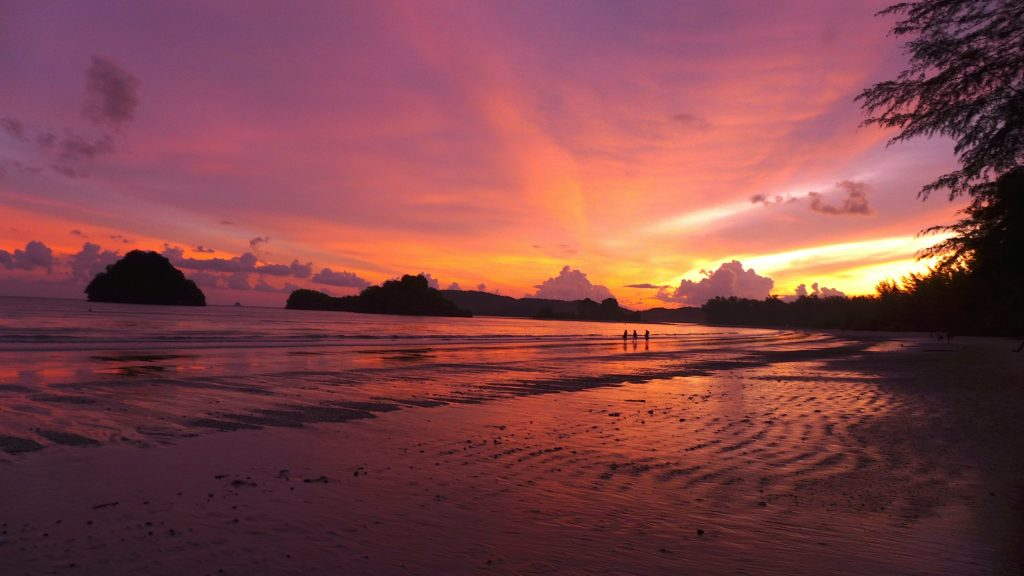 sunset by Krabi Thailand
