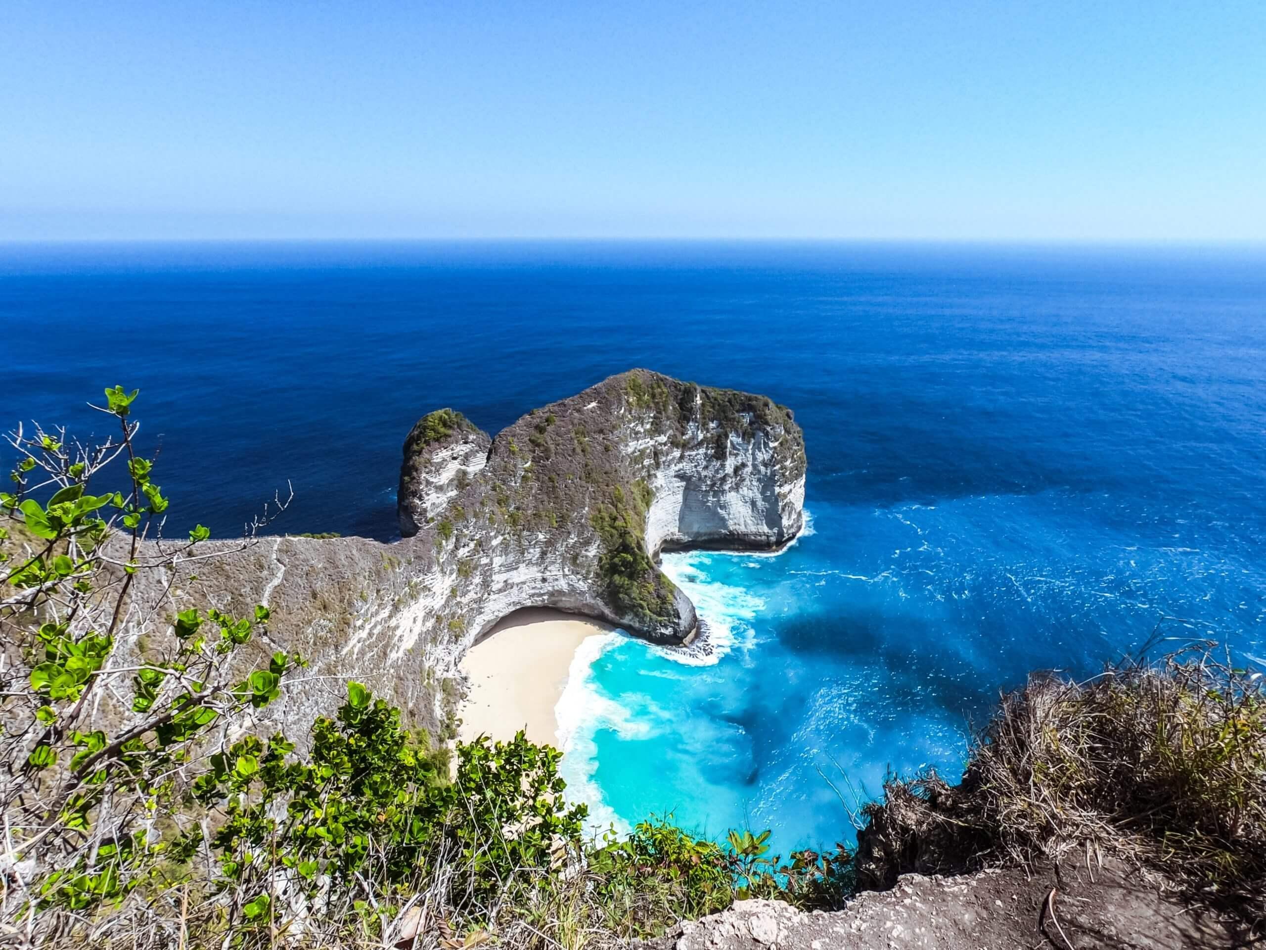 Kellingking beach on Nusa Penida island, Indonesia
