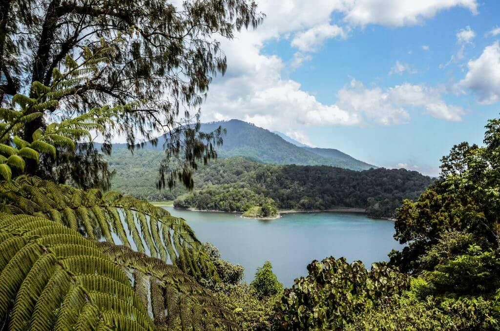 in the north of bali you can see the beautiful Hidden Hills Wanagiri