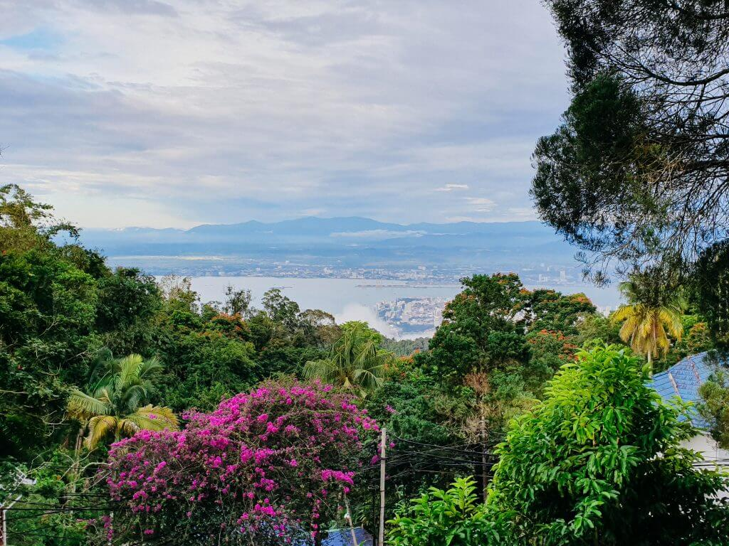 The view from Penang Hill on Penang island in Malaysia