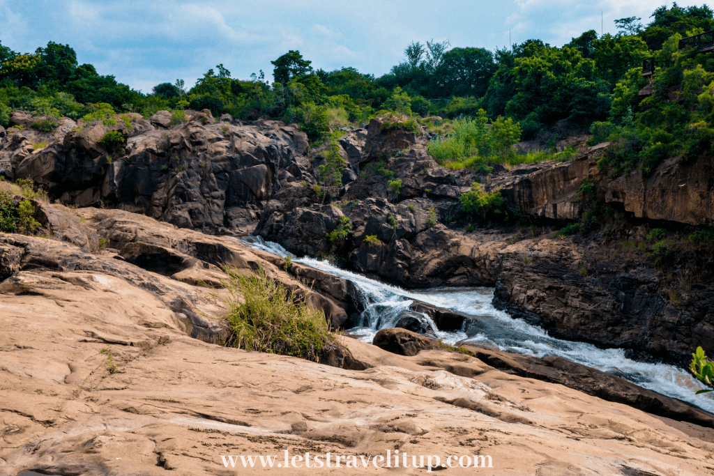 The Crocodile River and the Nels River that connect in the botanical gardens in Mpumalanga South Africa
