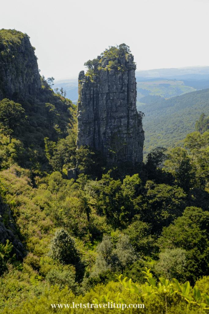 The beautiful Pinnacle rock in Graskop town in Mpumalanga, South Africa