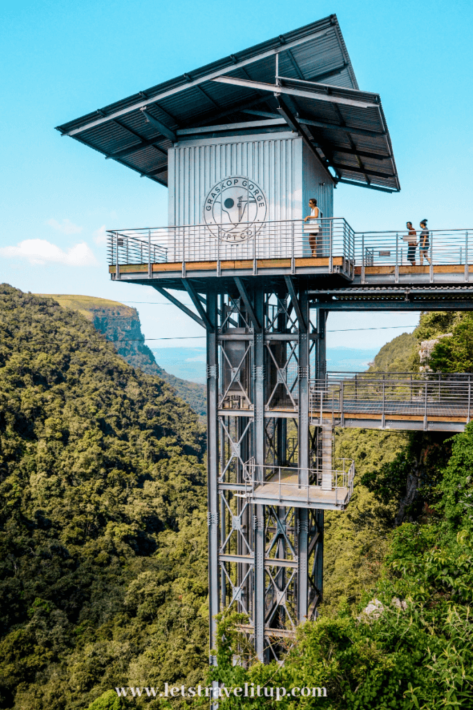 The lift at the Graskop Gorge in Mpumalanga, South Africa